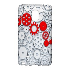 Iron Chain White Red Galaxy Note Edge by Mariart
