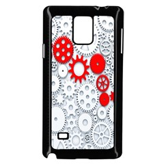 Iron Chain White Red Samsung Galaxy Note 4 Case (black) by Mariart