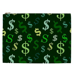Money Us Dollar Green Cosmetic Bag (xxl)  by Mariart