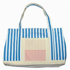 Love Polka Dot White Pink Line Striped Blue Tote Bag by Mariart