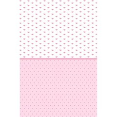 Love Polka Dot White Pink Line 5 5  X 8 5  Notebooks by Mariart