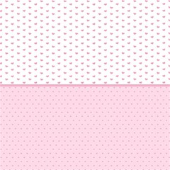 Love Polka Dot White Pink Line Magic Photo Cubes by Mariart