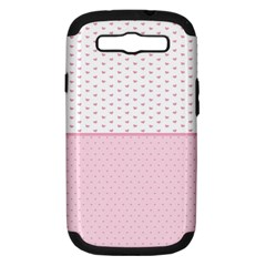 Love Polka Dot White Pink Line Samsung Galaxy S Iii Hardshell Case (pc+silicone) by Mariart