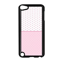 Love Polka Dot White Pink Line Apple Ipod Touch 5 Case (black) by Mariart