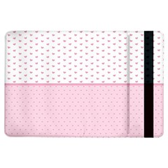 Love Polka Dot White Pink Line Ipad Air Flip by Mariart