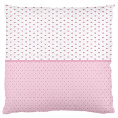 Love Polka Dot White Pink Line Standard Flano Cushion Case (two Sides) by Mariart