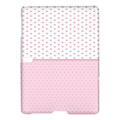 Love Polka Dot White Pink Line Samsung Galaxy Tab S (10 5 ) Hardshell Case  by Mariart