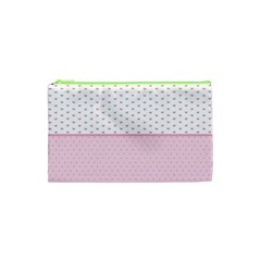 Love Polka Dot White Pink Line Cosmetic Bag (xs) by Mariart