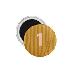 Number 1 Line Vertical Yellow Pink Orange Wave Chevron 1 75  Magnets by Mariart