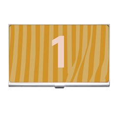 Number 1 Line Vertical Yellow Pink Orange Wave Chevron Business Card Holders by Mariart