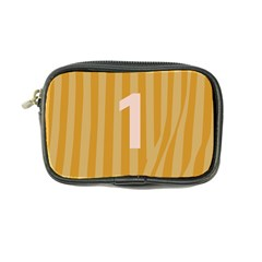 Number 1 Line Vertical Yellow Pink Orange Wave Chevron Coin Purse by Mariart