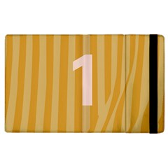Number 1 Line Vertical Yellow Pink Orange Wave Chevron Apple Ipad 3/4 Flip Case by Mariart