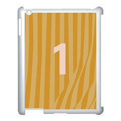 Number 1 Line Vertical Yellow Pink Orange Wave Chevron Apple Ipad 3/4 Case (white) by Mariart