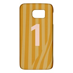 Number 1 Line Vertical Yellow Pink Orange Wave Chevron Galaxy S6 by Mariart