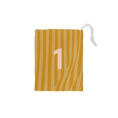 Number 1 Line Vertical Yellow Pink Orange Wave Chevron Drawstring Pouches (xs)  by Mariart