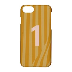 Number 1 Line Vertical Yellow Pink Orange Wave Chevron Apple Iphone 7 Hardshell Case by Mariart