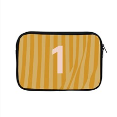 Number 1 Line Vertical Yellow Pink Orange Wave Chevron Apple Macbook Pro 15  Zipper Case by Mariart