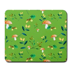 Mushrooms Flower Leaf Tulip Large Mousepads by Mariart
