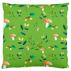 Mushrooms Flower Leaf Tulip Large Cushion Case (two Sides) by Mariart