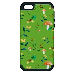 Mushrooms Flower Leaf Tulip Apple Iphone 5 Hardshell Case (pc+silicone) by Mariart