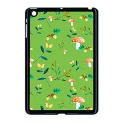 Mushrooms Flower Leaf Tulip Apple Ipad Mini Case (black) by Mariart