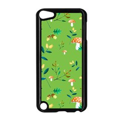 Mushrooms Flower Leaf Tulip Apple Ipod Touch 5 Case (black) by Mariart