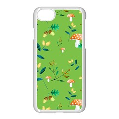 Mushrooms Flower Leaf Tulip Apple Iphone 7 Seamless Case (white) by Mariart