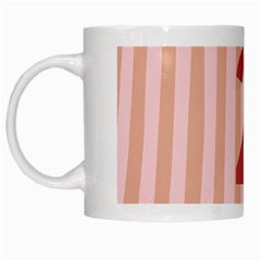 Number 2 Line Vertical Red Pink Wave Chevron White Mugs by Mariart