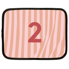 Number 2 Line Vertical Red Pink Wave Chevron Netbook Case (xl)  by Mariart