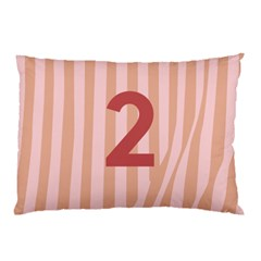 Number 2 Line Vertical Red Pink Wave Chevron Pillow Case (two Sides) by Mariart