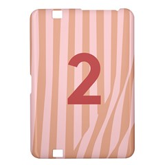 Number 2 Line Vertical Red Pink Wave Chevron Kindle Fire Hd 8 9  by Mariart