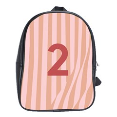 Number 2 Line Vertical Red Pink Wave Chevron School Bags (xl)  by Mariart