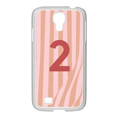 Number 2 Line Vertical Red Pink Wave Chevron Samsung Galaxy S4 I9500/ I9505 Case (white) by Mariart