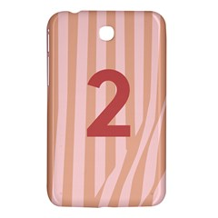Number 2 Line Vertical Red Pink Wave Chevron Samsung Galaxy Tab 3 (7 ) P3200 Hardshell Case  by Mariart