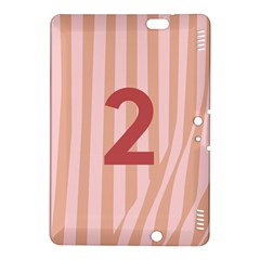 Number 2 Line Vertical Red Pink Wave Chevron Kindle Fire Hdx 8 9  Hardshell Case by Mariart