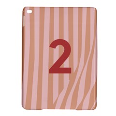 Number 2 Line Vertical Red Pink Wave Chevron Ipad Air 2 Hardshell Cases by Mariart