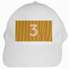 Number 3 Line Vertical Yellow Pink Orange Wave Chevron White Cap by Mariart