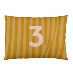 Number 3 Line Vertical Yellow Pink Orange Wave Chevron Pillow Case (two Sides) by Mariart