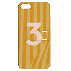 Number 3 Line Vertical Yellow Pink Orange Wave Chevron Apple Iphone 5 Hardshell Case With Stand by Mariart
