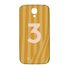 Number 3 Line Vertical Yellow Pink Orange Wave Chevron Samsung Galaxy S4 I9500/i9505  Hardshell Back Case by Mariart