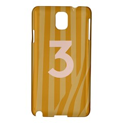 Number 3 Line Vertical Yellow Pink Orange Wave Chevron Samsung Galaxy Note 3 N9005 Hardshell Case by Mariart