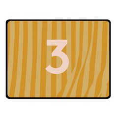 Number 3 Line Vertical Yellow Pink Orange Wave Chevron Double Sided Fleece Blanket (small)  by Mariart
