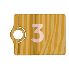Number 3 Line Vertical Yellow Pink Orange Wave Chevron Kindle Fire Hd (2013) Flip 360 Case by Mariart
