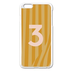 Number 3 Line Vertical Yellow Pink Orange Wave Chevron Apple Iphone 6 Plus/6s Plus Enamel White Case by Mariart