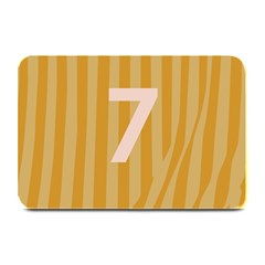 Number 7 Line Vertical Yellow Pink Orange Wave Chevron Plate Mats by Mariart