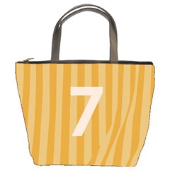 Number 7 Line Vertical Yellow Pink Orange Wave Chevron Bucket Bags by Mariart