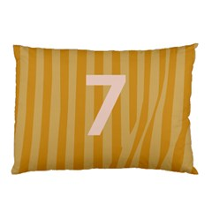 Number 7 Line Vertical Yellow Pink Orange Wave Chevron Pillow Case by Mariart