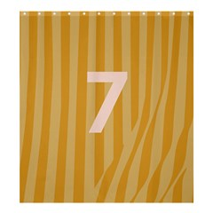 Number 7 Line Vertical Yellow Pink Orange Wave Chevron Shower Curtain 66  X 72  (large)  by Mariart