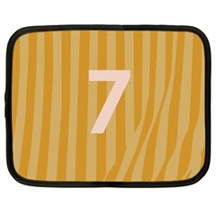 Number 7 Line Vertical Yellow Pink Orange Wave Chevron Netbook Case (xxl)  by Mariart