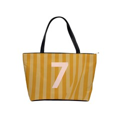 Number 7 Line Vertical Yellow Pink Orange Wave Chevron Shoulder Handbags by Mariart